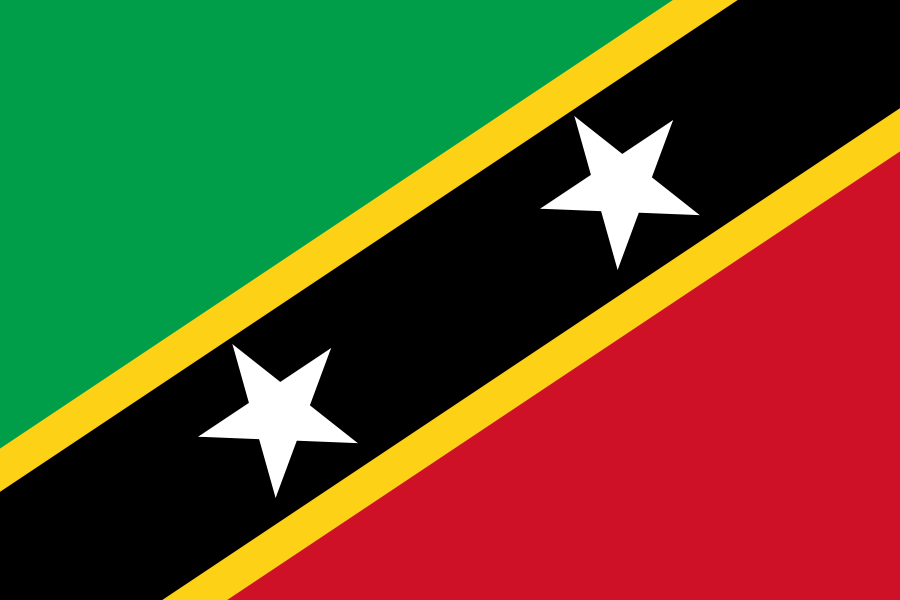 The flag of Saint Kitts