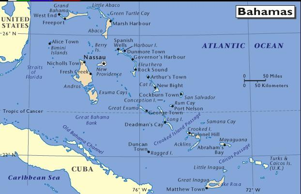 The Bahamas map