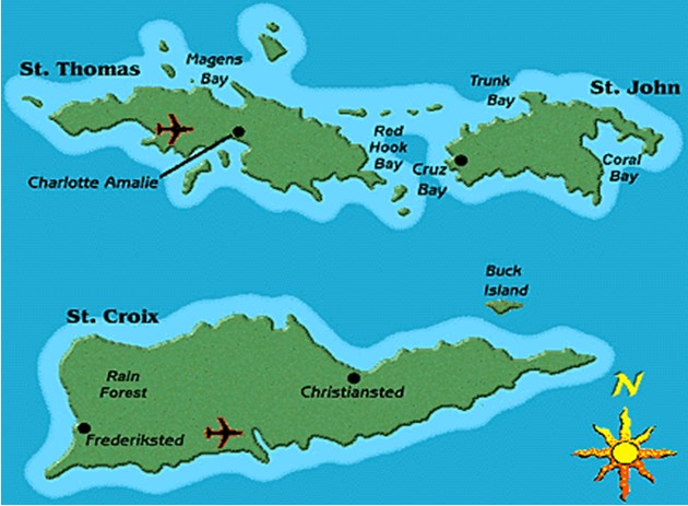 The Virgin Islands_map